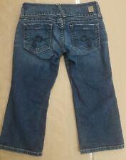 Vintage Style Large Belt Loops Guess Womens Jean Crop Capri Leg Shorts Size 29