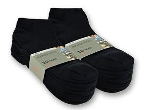 10 bis 100 Paar Sneaker Socken Baumwolle Damen & Herren Schwarz & Weiß