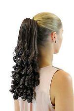 POSTICHE / TRESSE Magnifique bouclée 45 cm épingle à cheveux-papillon marron