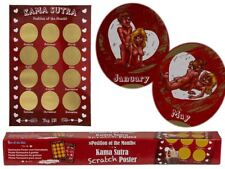 Kama Sutra Sex Position Monthly Scratch & Reveal Poster Stag Hen Scratchcard