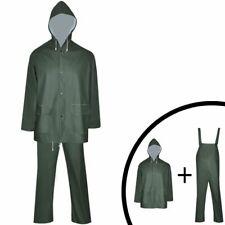 2 Waterproof Heavy-duty Rain Suit Raincoat with Hood Groundsheet PVC Fabric