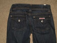 Hudson Size 26 Flap Pocket Slightly Flared Dark Blue Stretch Denim Womens Jeans