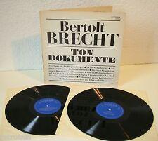 Bertolt Brecht - Ton Dokumente historische Aufnahmen   2LP FOC   Litera   VG+