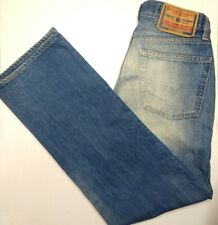 Diesel Industry 29 x 30 Medium Light Wash Straight Leg Mens Cotton Blue Jeans