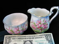 Royal Albert Blossom Time Creamer & Sugar Mint Set Perfect For Tray