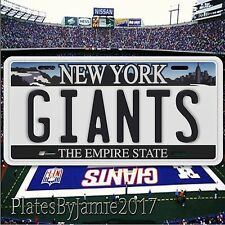 GIANTS New York Aluminum Metal License Plate Tag Football NFC NFL New  Cool