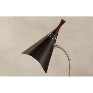 Adesso Draper Gooseneck Desk Lamp, Brushed Steel/Black - 3234-01