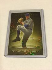 2013 BOWMAN STERLING CANARY DIAMOND REFRACTOR ROOKIE NOAH SYNDERGAARD RC 3/3 1/1