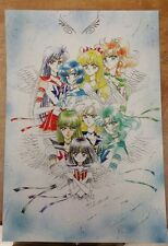Sailor Moon Manga Eternal Inner and outer guardians poster 11x17 laminated.