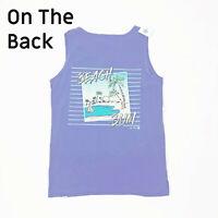 NWT Jane Marie Tank Top Beach Bum Blue
