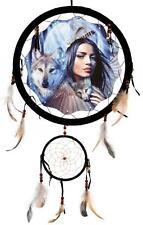 "13"" DREAM CATCHER - WOLF FRIENDS - NEW -"