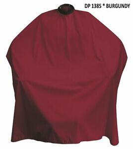 DINCER - Barber Capes Gowns - CLASSIC PLAIN BURGUNDY - Salon Hair Cutting