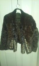 Ladies Brown Mink? Fur Jacket With Scarf