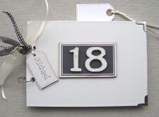 Personalizada 18TH Cumpleaños. Negro.. A5 Tamaño.. Photo Album/libro De Memoria/álbum de recortes.