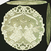 Ecru Set of 2 Heritage Lace Prelude 12-Inch Round Doily