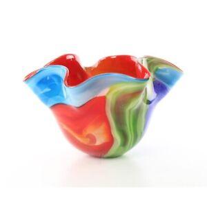 9973907-ds Glas Figur Murano Stil stilisierte Blumen-Vase 35x35x24cm