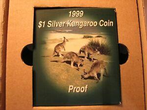 1999 $1 Silver Kangaroo 1oz Proof coin.