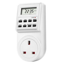 Pro 230V UK Plug In Digital LCD Display Programmable Timer Switch Socket 24hrs