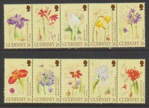 Guernsey - 2000, A Botanists Sketchbook, Flowers set - MNH - SG 867/76