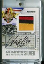 09-10 ITG Between The Pipes Number Silver Jacob Markstrom Auto/Patch /3