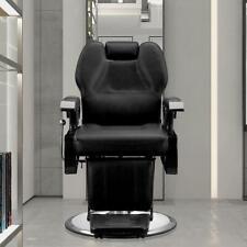 Hydraulic Deluxe Recliner Barber Chair Beauty Hair Salon Spa Equipment Black