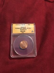 2009 ONE CENT ANACS MS 66 RED FORMATIVE YEARS DD REV WDDR-041BEST OF VARIETY