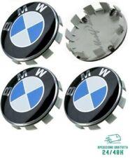 4 Tappi Coprimozzo 68 mm per BMW Serie 1 2 3 4 5 6 7 M Z X Cerchi in Lega