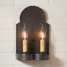 HANOVER new Double Wall Sconce light in Kettle BLack Tin