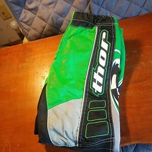 Vintage Thor Core Performance Green/Black/White Motocross Pants Youth 20