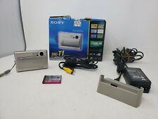 Sony DSC-T1 Cyber-shot Digital Camera & Video 5MP Optical 3x Zoom Carl Zeiss