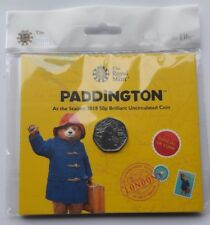 Royal Mint UK 2018 Paddington Bear at the Station BUNC 50p Fifty Pence Coin Pack