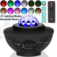 USB Galaxy Projector LED Music Starry Night Light Star Sky Projection Lamp