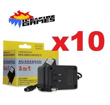 10x New AC Adapter for NES, SNES, Genesis -- Super Nintendo Power Cable Cord