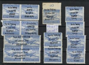 GERMANY 1940s GREEK ISLANDS OCCUP. OVPT ON AIRPOST STAMPS MNH** -CAG 040421