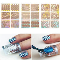 DIY 24Pcs Sheets Nail Art Hollow Stencil Template Stickers Manicure Tool Stamp