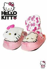 BNIB STOMPEEZ HELLO KITTY GIRLS PINK FLEECE SLIPPERS SIZE L (ADULT 3-5)