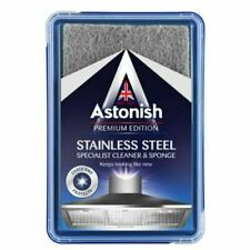 Astonish Stainless Steel Cleaner & Scourer Sponge 250g Coats Protects Kitchen