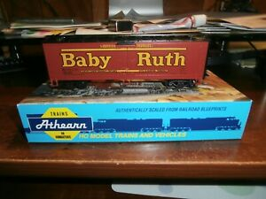 ATHEARN HO BLUE BOX ASSEMBLED KIT-40' WOOD REEFER CAR-BABY RUTH-5334