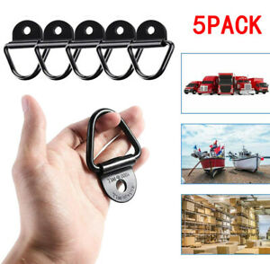 5X Heavy Duty Truck Fixed Trailer Anchor Rings Lashing Tie Down Hook Accessories