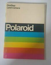 Vintage Polaroid One Step Land Camera Manual