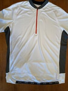 Pearl Izumi Select Cycling Jersey 2XL 2X White Gray Shirt 1/4 Zip Short Sleeve