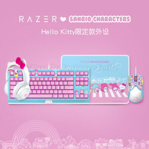 Razer x Sanrio Hello Kitty Headset Keyboard Mouse and Mouse Pad Combo Set