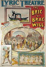 AP98 Vintage Lyric Theatre The Bric-A-Brac Advertisement Poster Card Print A5