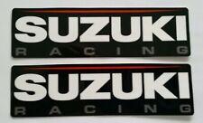 "2 SUZUKI RACING STICKERS DECALS 1.75X6"" FREE SHIPPING motoamerica bike moto sbk"