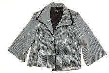 Women's Jones New York Jacket Black White Wool Blend Collection Woman Size 24W