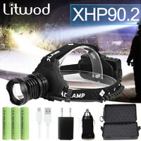 300000 Lm Xhp90.2 Led Headlight Xhp90 High Power Head Lamp Torch Usb 18650 Zoom