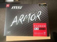 MSI Radeon RX 580 8 GB Armor OC Graphics Card 2 Months Old