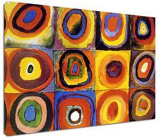 Quadro moderno Astratto Kandinsky Cerchi - Arte Arredo Stampa su tela Intelaiato