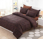 Brown Leopard Bedding Duvet/Quilt Cover Set Single Queen King Size +Pillowcases