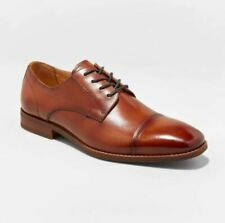 Men's Brandt Leather Cap Toe Oxford Dress Shoes - Goodfellow & Co Tan 10, Brown